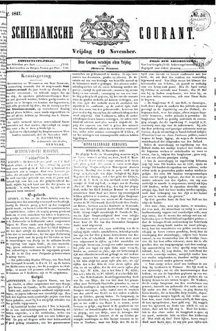 Schiedamsche Courant 1847-11-19