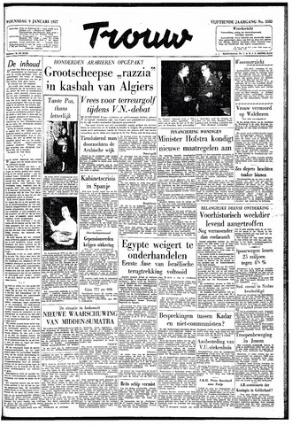Trouw / De Rotterdammer 1957-01-09