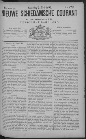 Nieuwe Schiedamsche Courant 1892-05-21
