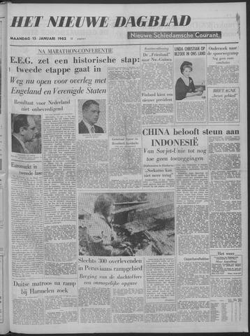 Nieuwe Schiedamsche Courant 1962-01-15