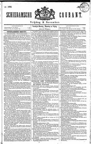 Schiedamsche Courant 1866-11-02