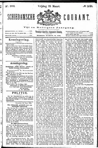 Schiedamsche Courant 1881-03-25