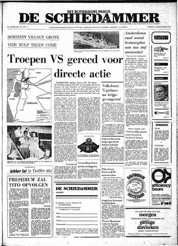Rotterdamsch Parool / De Schiedammer 1970-09-22