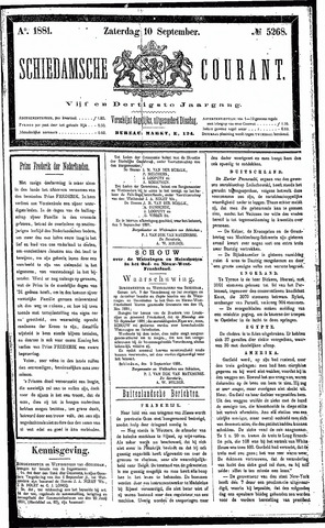 Schiedamsche Courant 1881-09-10