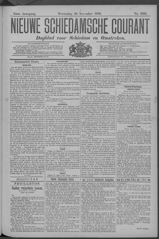 Nieuwe Schiedamsche Courant 1909-11-10