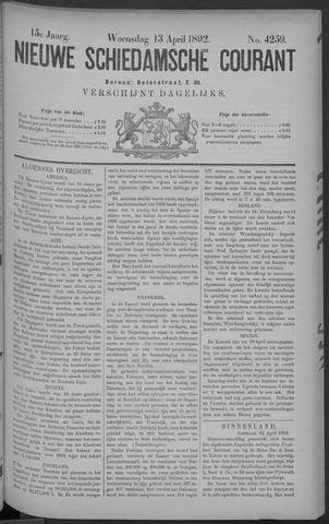 Nieuwe Schiedamsche Courant 1892-04-13