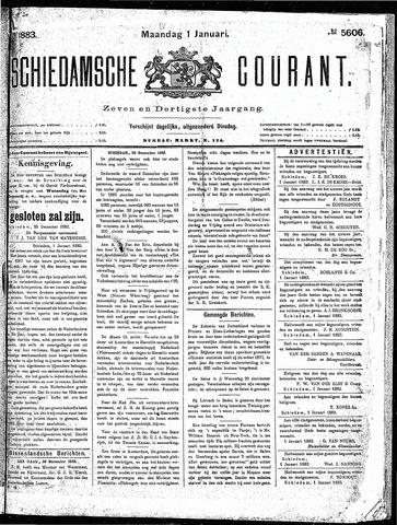 Schiedamsche Courant 1883-01-01
