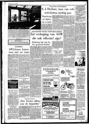 Rotterdamsch Parool / De Schiedammer 1962-04-04