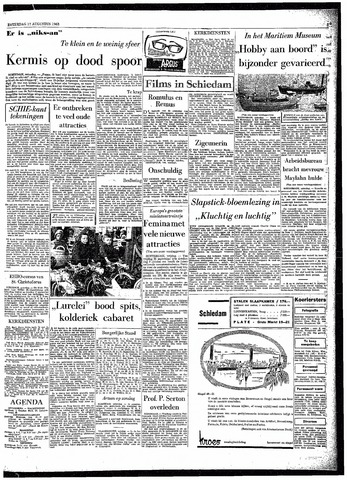 Rotterdamsch Parool / De Schiedammer 1963-08-17
