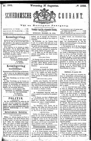 Schiedamsche Courant 1881-08-31