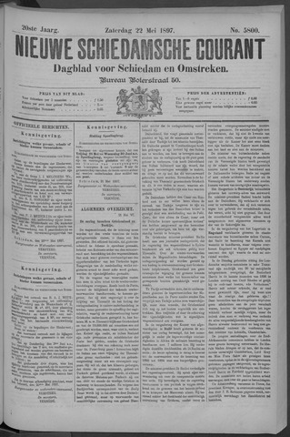 Nieuwe Schiedamsche Courant 1897-05-22