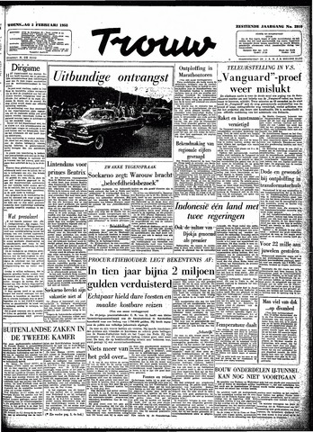 Trouw / De Rotterdammer 1958-02-05