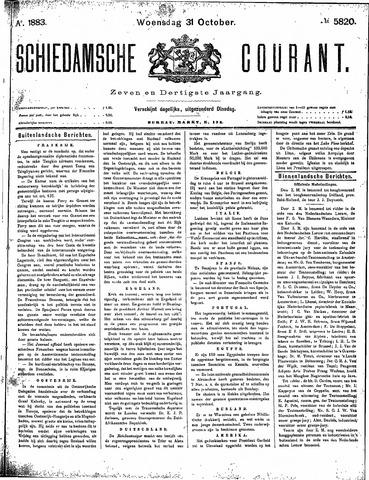 Schiedamsche Courant 1883-10-31