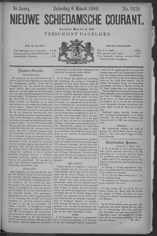 Nieuwe Schiedamsche Courant 1886-03-06