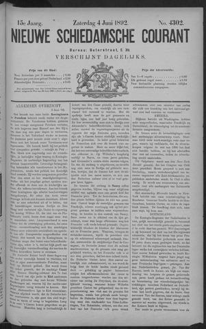 Nieuwe Schiedamsche Courant 1892-06-04