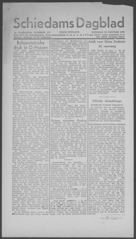Schiedamsch Dagblad 1945-01-23
