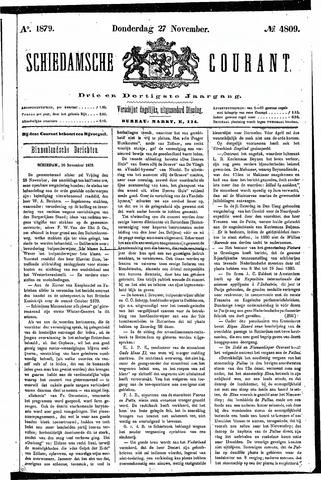 Schiedamsche Courant 1879-11-27