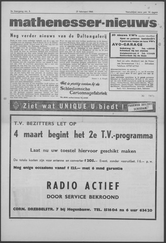 Mathenesser Nieuws 1964-02-27