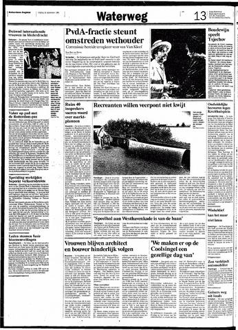 Rotterdamsch Nieuwsblad / Schiedamsche Courant / Rotterdams Dagblad / Waterweg / Algemeen Dagblad 1991-09-13