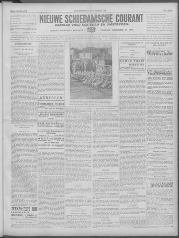 Nieuwe Schiedamsche Courant 1933-11-09