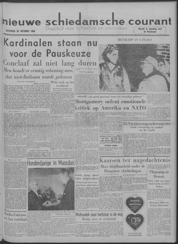 Nieuwe Schiedamsche Courant 1958-10-25