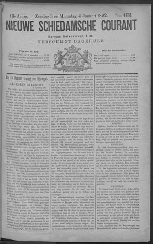 Nieuwe Schiedamsche Courant 1892-01-04