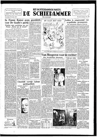Rotterdamsch Parool / De Schiedammer 1947-10-29