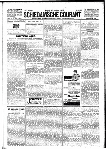 Schiedamsche Courant 1929-10-11