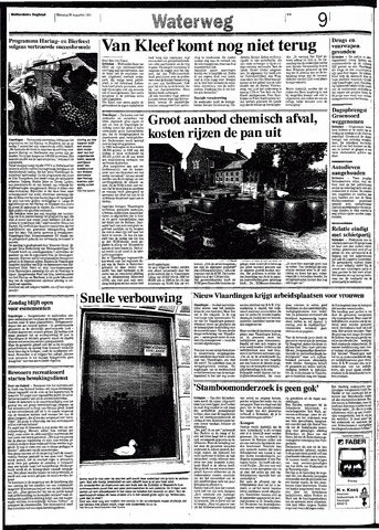Rotterdamsch Nieuwsblad / Schiedamsche Courant / Rotterdams Dagblad / Waterweg / Algemeen Dagblad 1991-08-26