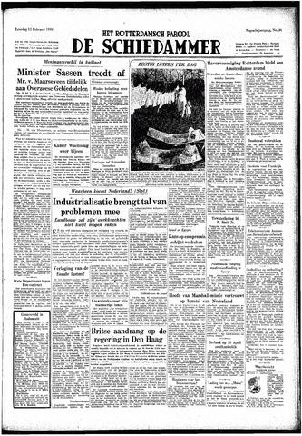 Rotterdamsch Parool / De Schiedammer 1949-02-12