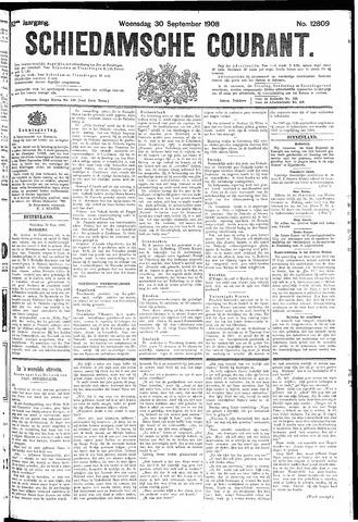 Schiedamsche Courant 1908-09-30