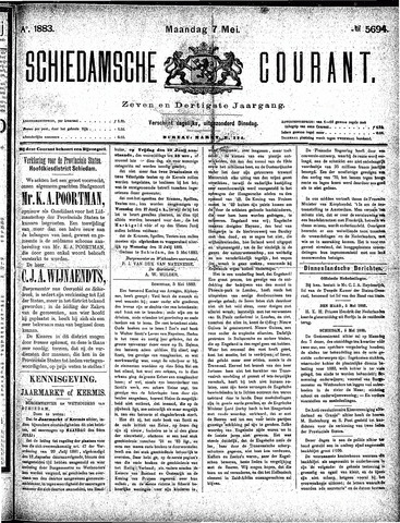 Schiedamsche Courant 1883-05-07