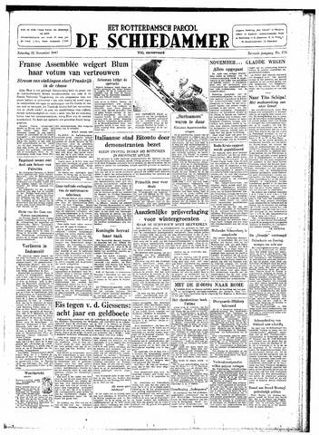 Rotterdamsch Parool / De Schiedammer 1947-11-22