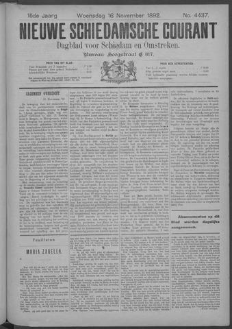 Nieuwe Schiedamsche Courant 1892-11-16