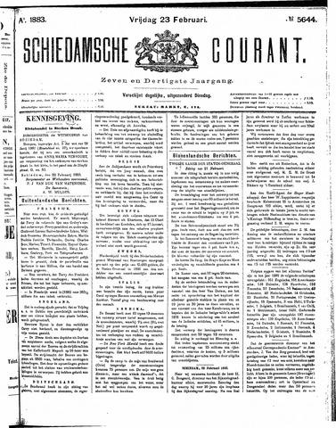 Schiedamsche Courant 1883-02-23
