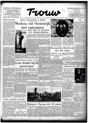 Trouw / De Rotterdammer 1954-02-13
