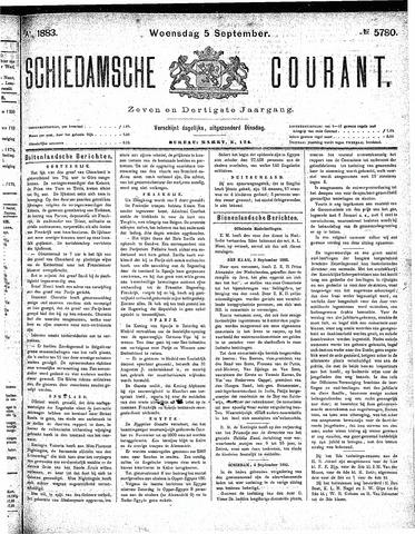 Schiedamsche Courant 1883-09-05