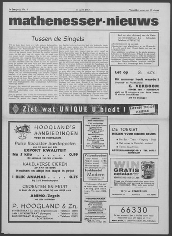 Mathenesser Nieuws 1963-04-11