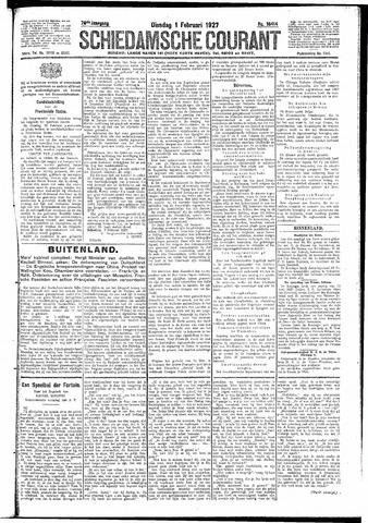 Schiedamsche Courant 1927-02-01