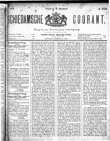 Schiedamsche Courant 1885-01-09