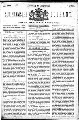 Schiedamsche Courant 1881-08-13