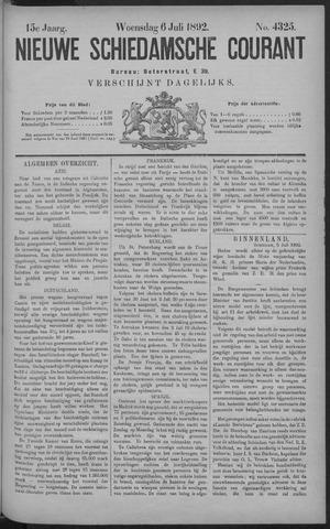 Nieuwe Schiedamsche Courant 1892-07-06