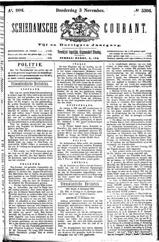 Schiedamsche Courant 1881-11-03