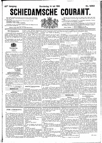 Schiedamsche Courant 1910-07-14