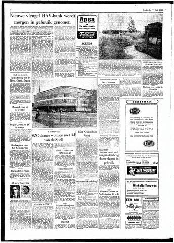 Rotterdamsch Parool / De Schiedammer 1955-07-07