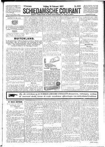 Schiedamsche Courant 1927-02-18