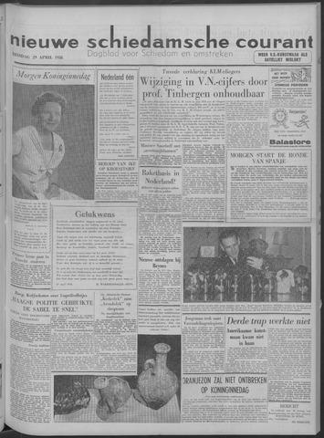 Nieuwe Schiedamsche Courant 1958-04-29