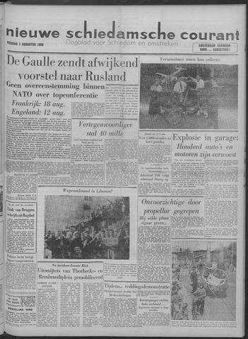 Nieuwe Schiedamsche Courant 1958-08-01