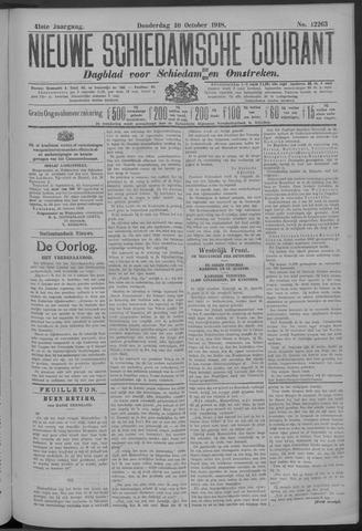 Nieuwe Schiedamsche Courant 1918-10-10