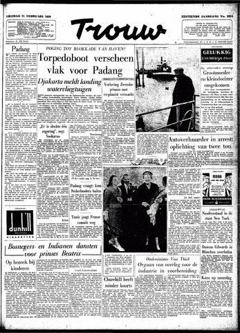 Trouw / De Rotterdammer 1958-02-21